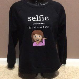 Black Emoji Selfie Sweatshirt